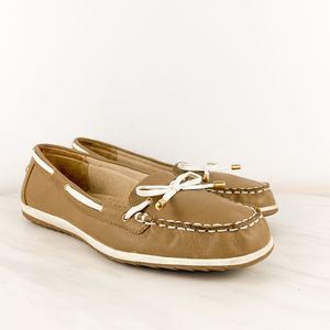 LifeStride Taupe Boat Tipsy Shoes Sz 9M